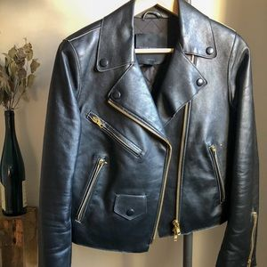 Club Monaco Lamb Leather Jacket - Small